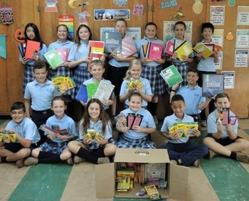 5th Grade Hurricane Donations