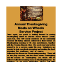 Annual Thanksgiving Meals on Wheels Service Project