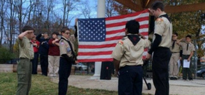 St. Augustine  Kalamazoo Private Catholic School CSGK Boy Scout Troop 224 Flag Ceremony