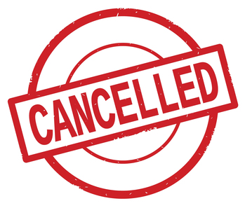CANCELLED: Full Listing of Cancelled Programs for 1/30