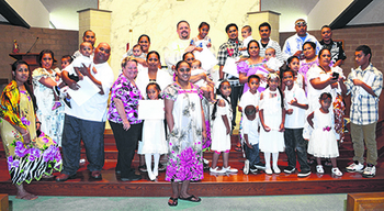 Enid parish welcomes families from Micronesia