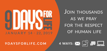 "Thousands of U.S. Catholics prepare for Launch of ""9 Days for Life"""