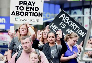 Thousands gather in Times Square to celebrate the dignity of human life