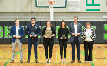 Bishop McGuinness inducts seven alumni into Athletics Hall of Fame