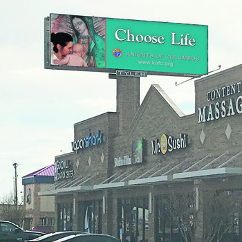 Pro-life billboards provide signs of hope