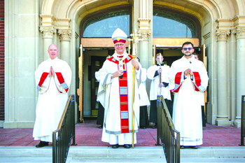 Archbishop ordains two seminarians to the transitional diaconate