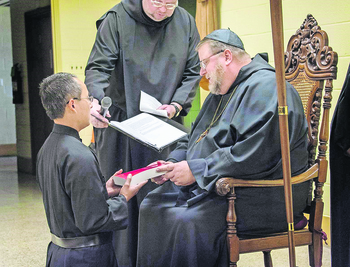 Br. Nguyen invested as Novice at St. Gregory's Abbey