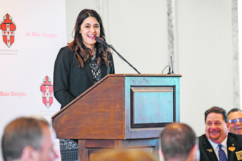 U.S. Rep. Stephanie Bice speaks to Assembly of Catholic Professionals