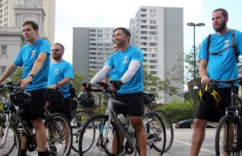 Cycling seminarians' trek in Philadelphia Archdiocese promotes vocations