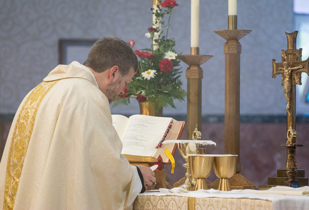 Father James, Mass, Consecration