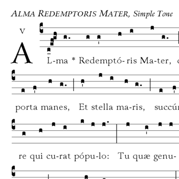 Alma Redemptoris Mater Chant for Advent