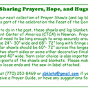 Next Prayer Shawl Blessing Announced
