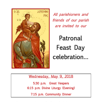 Parish Patronal Feast Day