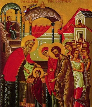 Eve of Feast of the Entrance of the Theotokos into the Temple