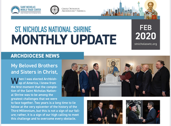St. Nicholas Shrine Monthly Update