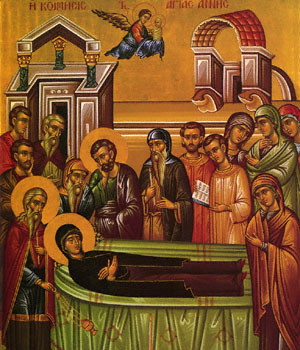 Dormition of St. Anna (mother of the Theotokos)