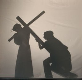 Silhouette Stations of the Cross with Simple Supper