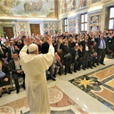 Pope Francis addresses the Italian Deaf Association