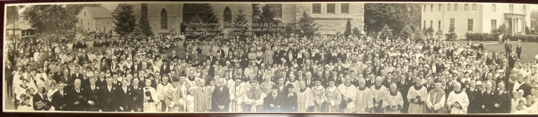 Visit of Bishop Gerald Shaughnessy to Saint Mary's Parish in Milford on September 24, 1933.