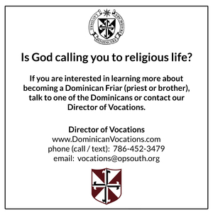 Dominican Vocation Bulletin Announcement