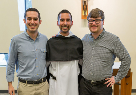Br. Carlos Salas, OP and two future friars.