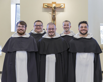 Five Men Receive the Dominican Habit