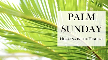 Palm Sunday Online Masses