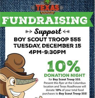 Boy Scout Troop 555 Dine to Donate