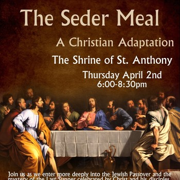 Seder Meal-CANCELLED