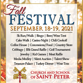 Fall Festival Volunteer Sign Up Table