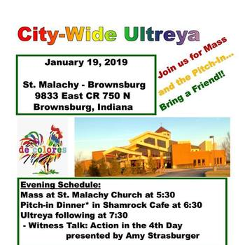 Cancelled due to weather-Ultreya-St. Malachy Brownsburg