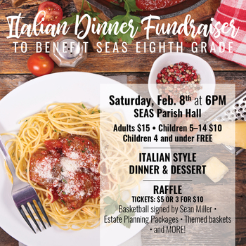 Italian Dinner Fundraiser for 8th Grade