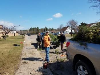 Small crew does big work on parish grounds