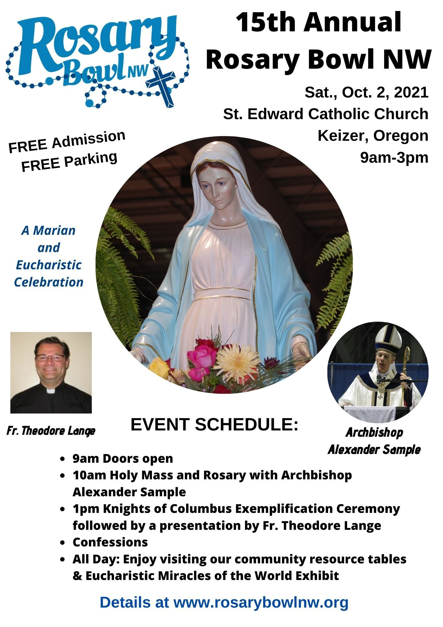 2021 Rosary Bowl NW 15th Annual Event Postor