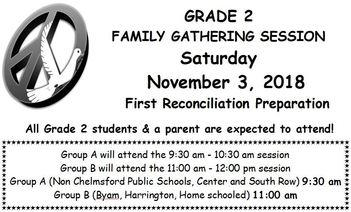 SM Faith Formation: Grade 2 Family Gathering Session