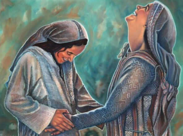 Jump for Joy by Corby Eisbacher * The Visitation * Luke 1:39-45