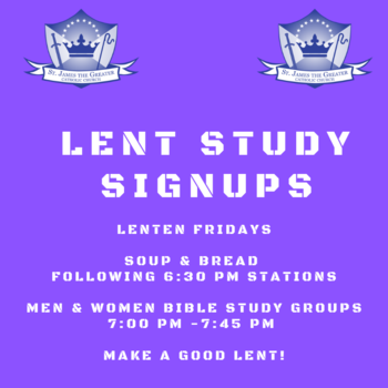 Lenten Soup and Bread Fridays