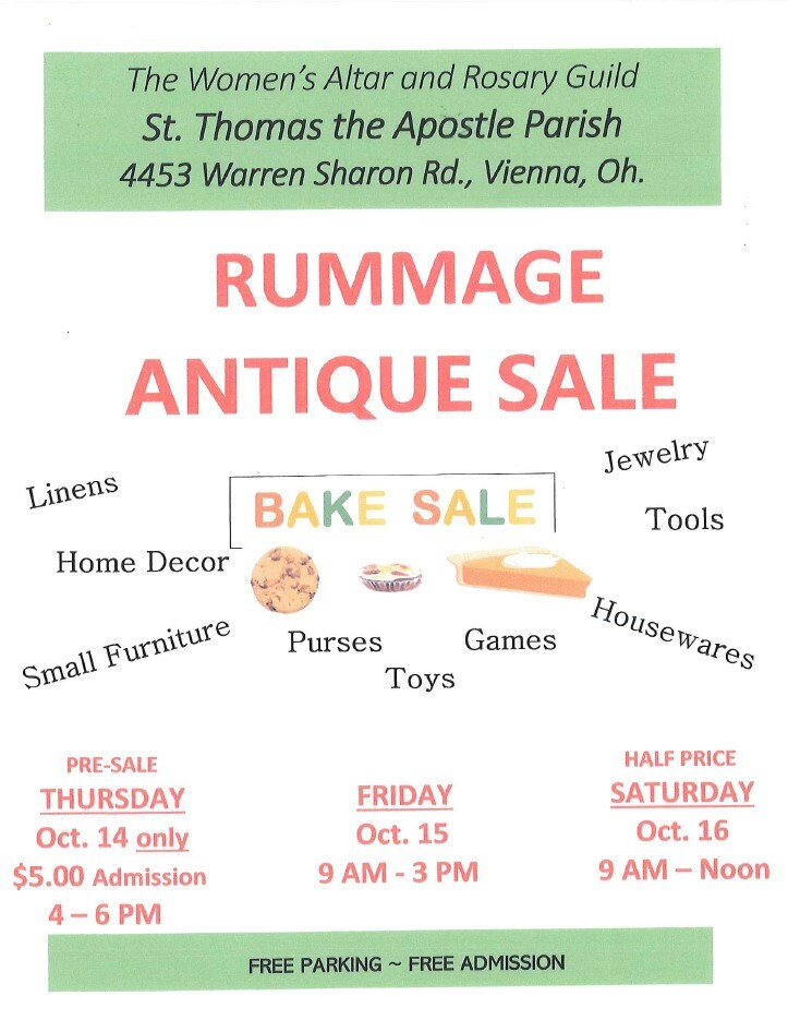 Alter & Rosary Rummage Sale