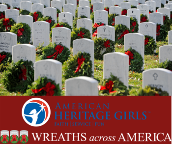 American Heritage Girls and Wreaths Across America