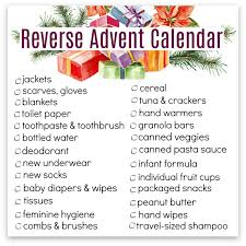 Reverse Advent Calendar Collection Saturday, January 4