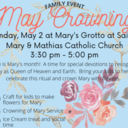 May Crowning Family Event