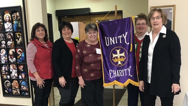 From Left: Deb Ferreira (Vice Regent), Denise Cooney (Financial Secretary), Donna Tibbetts (Recording Secretary), Karol Beaty (Treasurer), Ann Bahn (Regent)