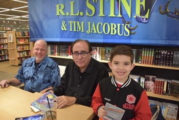 CTT student meets New York Times Bestselling Author, R.L. Stine