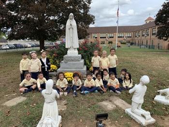 PREK4A with our Blessed Mother.