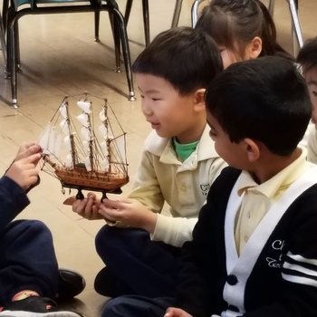 Pre-K 4B learns about the Mayflower.