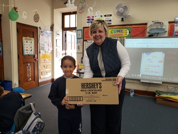 The winner for selling the most chocolate!!