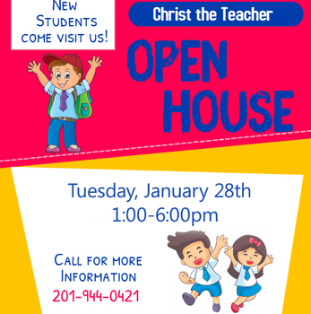 Open House Tuesday, January 28 --1pm-6pm