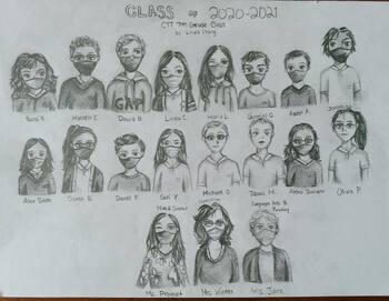 Grade 7 Class Picture created by Linda