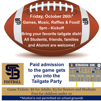 St Bernard's CCHS - Tailgate Party!