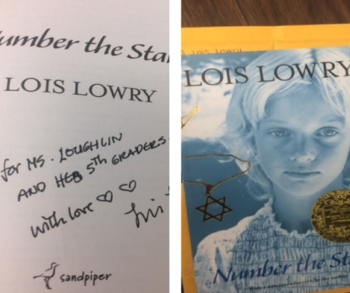 Grade 5 Writes to Lois Lowry, Number the Stars Author